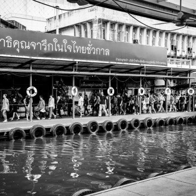 Flusstaxi in Bangkok by Katja Boehm