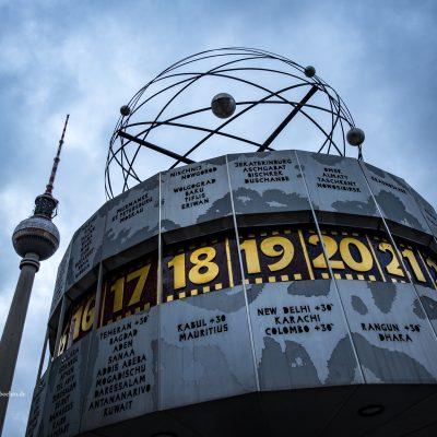 Weltzeituhr in Berlin by Katja Böhm